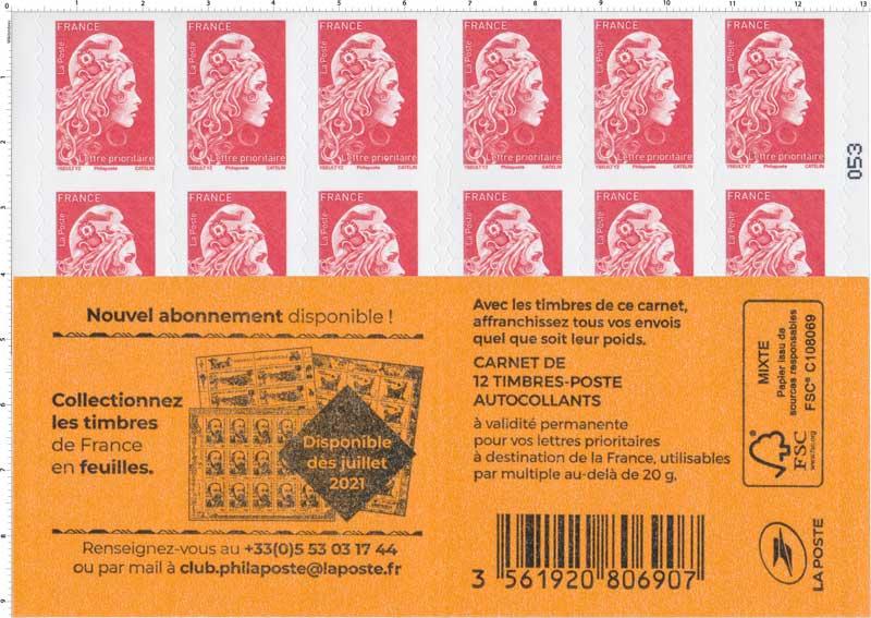 2021 Collectionnez les timbres de France en feuilles
