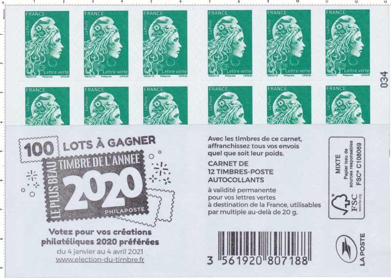 2021 Carnet Marianne élection du timbre - 100 lots à gagner