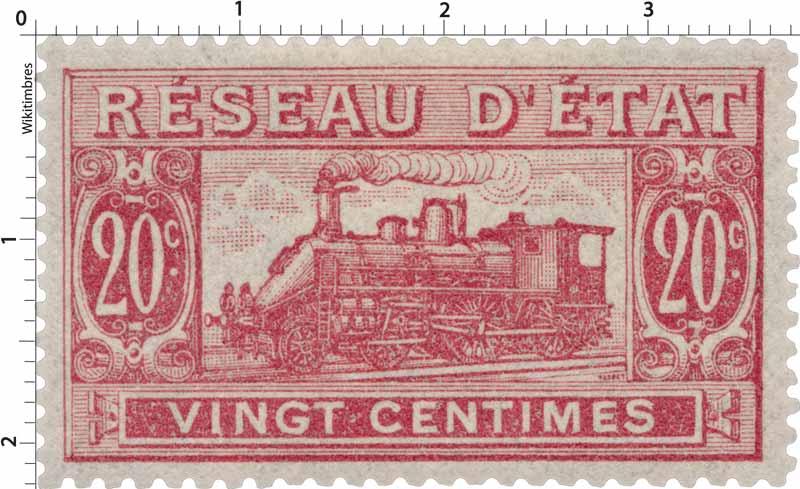 Réseau d'état vingt centimes