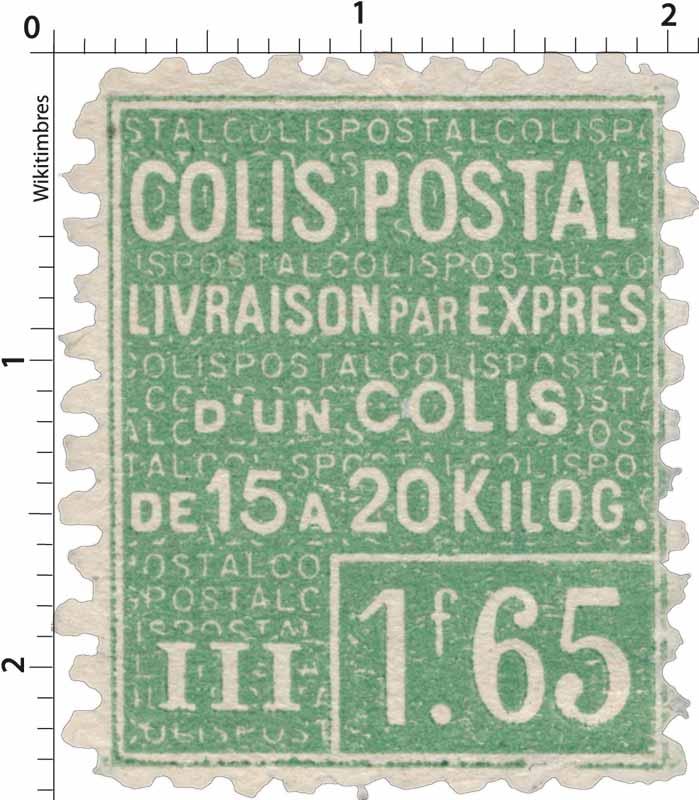 COLIS POSTAL LIVRAISON PAR EXPRES d'un colis de 15 a 20 kilos.