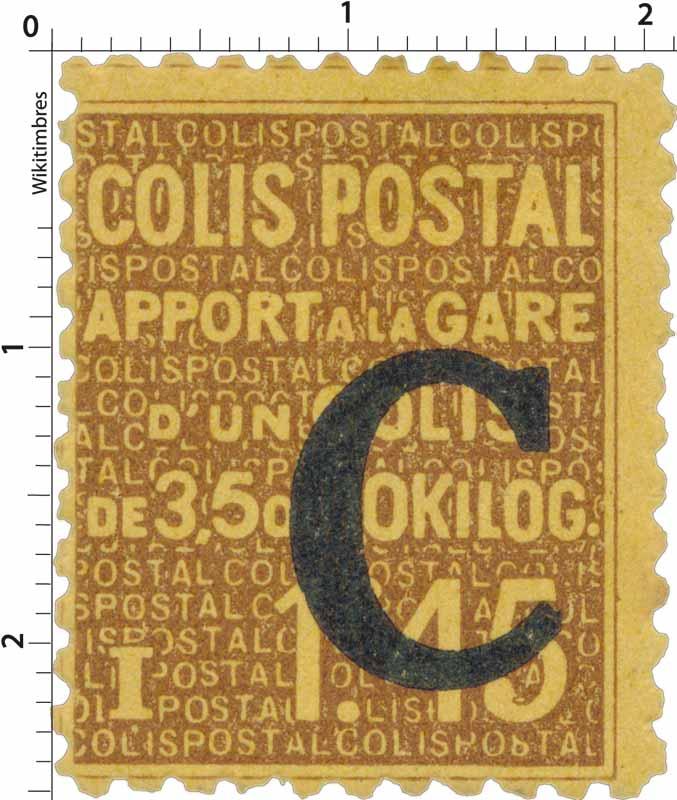 COLIS POSTAL Apport à la gare d'un colis de 3,5 à 10 Kilos