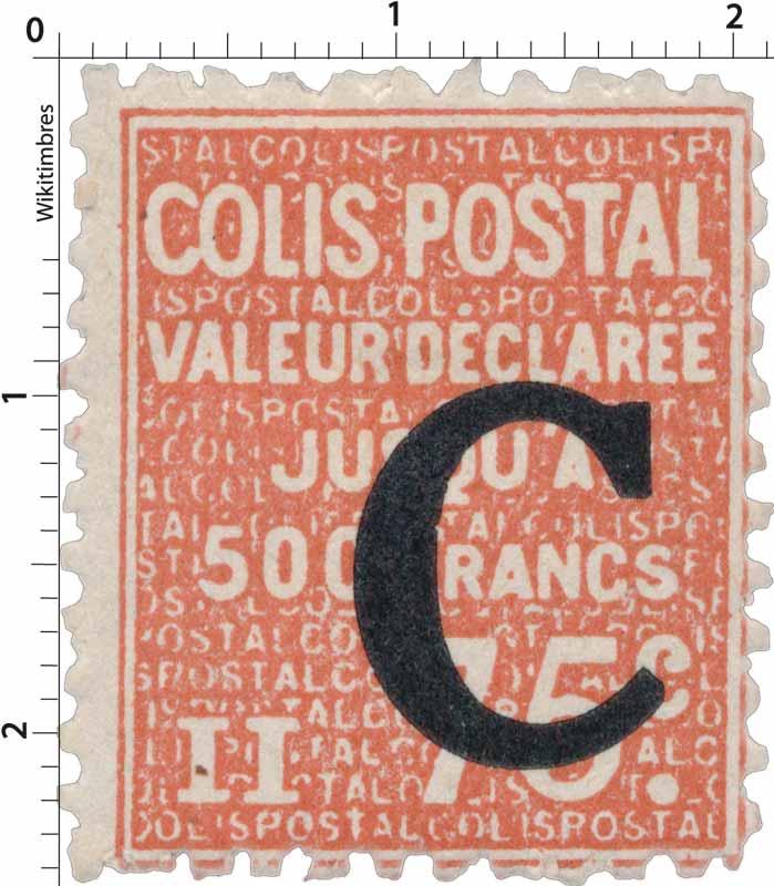COLIS POSTAL VALEUR DÉCLARÉE Jusqu'à 500 francs