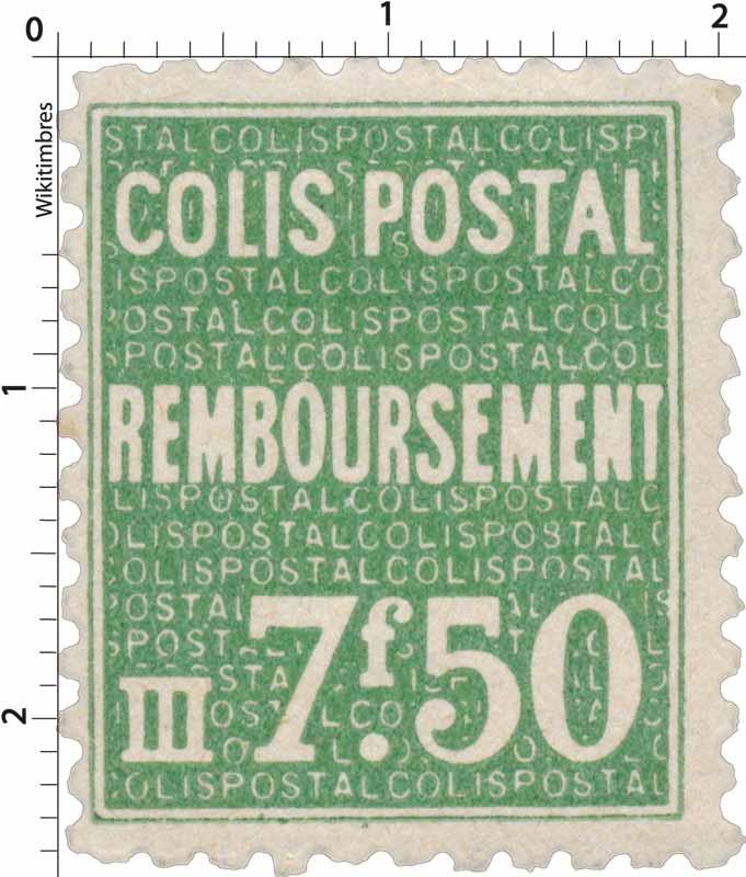 COLIS POSTAL Remboursement