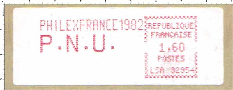 PHILEXFRANCE 1982 P.N.U