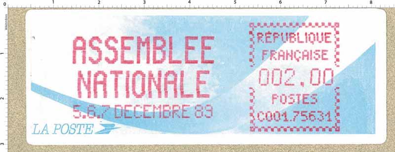 .ASSEMBLÉE NATIONALE 5.6.7 DÉCEMBRE 89
