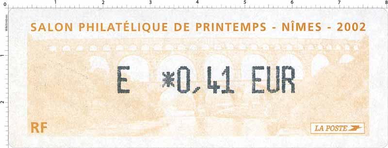 SALON PHILATÉLIQUE DE PRINTEMPS - NÎMES - 2002