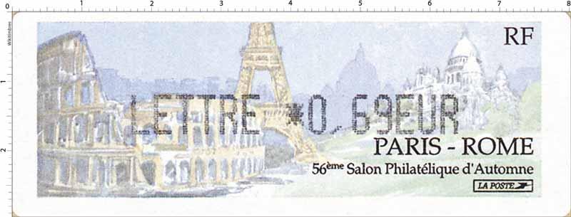 56e SALON PHILATÉLIQUE D'AUTOMNE PARIS - ROME