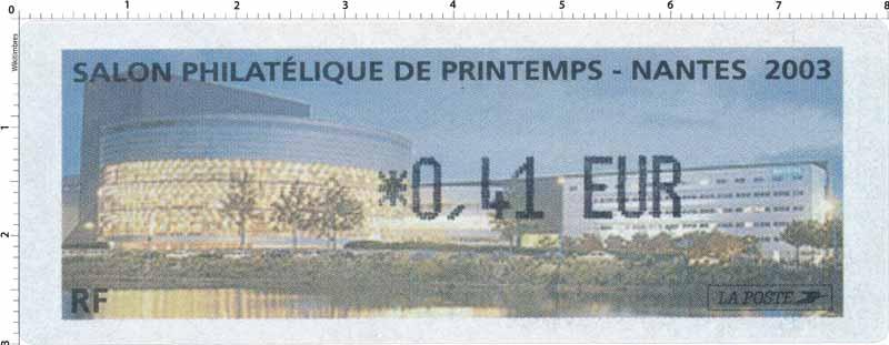 SALON PHILATÉLIQUE DE PRINTEMPS - NANTES 2003