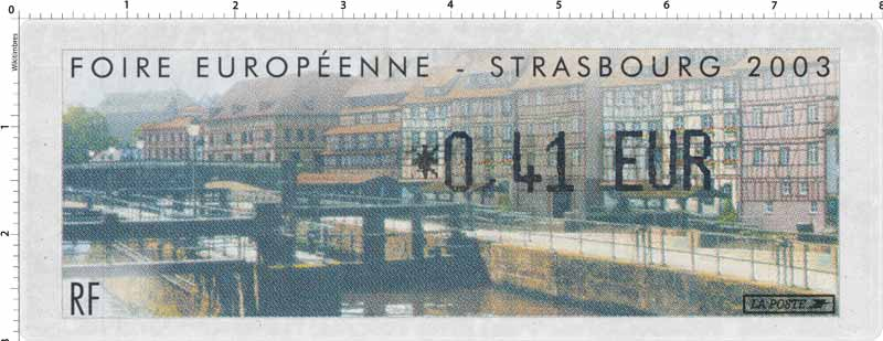 2003 FOIRE EUROPÉENNE - STRASBOURG 2003