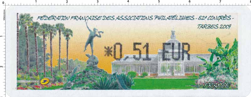 FÉDÉRATION FRANÇAISE DES ASSOCIATIONS PHILATÉLIQUES – 82e CONGRÈS – TARBES 2009
