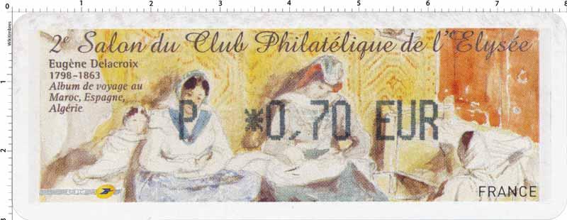 2e Salon du Club Philatélique de l'Élysée Eugène Delacroix 1798-1863