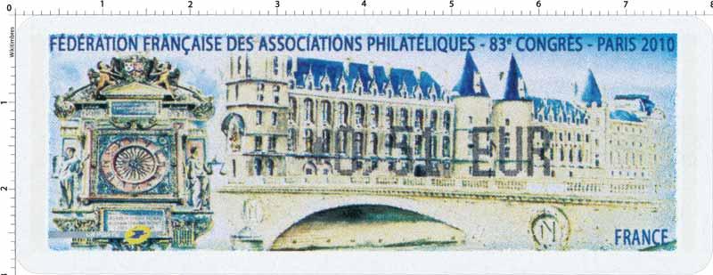 Fédération françaises des associations philatéliques 83e congrès Paris 2010