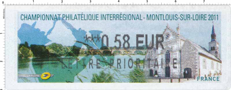 CHAMPIONNAT PHILATÉLIQUE INTERRÉGIONAL MONTLOUIS-SUR-LOIRE 2011
