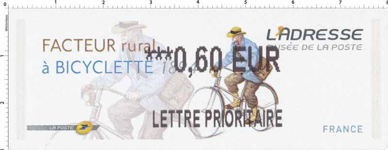 Facteur rural à Bicyclette 1894 L'adresse musée de La Poste