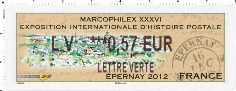 MARCOPHILEX XXXVI Exposition internationale d'histoire postale