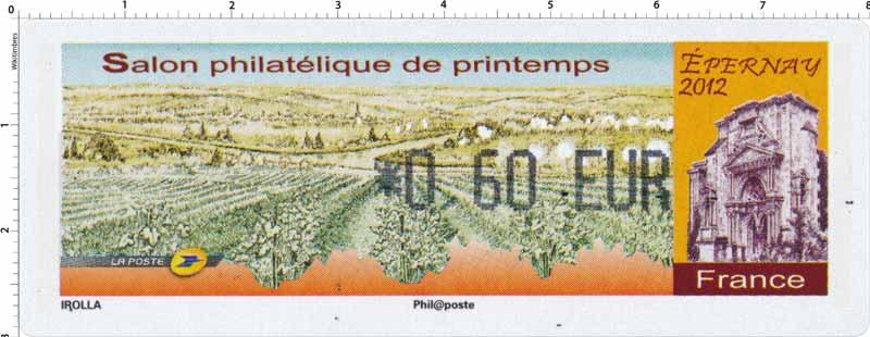 2012 Salon philatélique de printemps Épernay