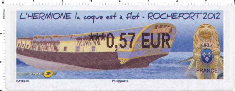 2012 LISA Hermione La coque est à flot Rochefort