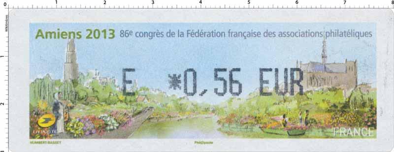 Amiens 2013 86e congrès de la Fédération française des associations philatéliques
