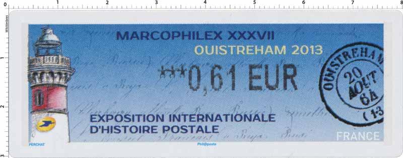 2013 LISA Marcophilex XXXVII à Ouistreham exposition internationale d'histoire postale