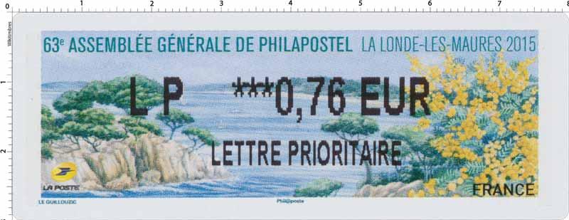 63e assemblée générale Philapostel - La Londe-les-Maures 2015