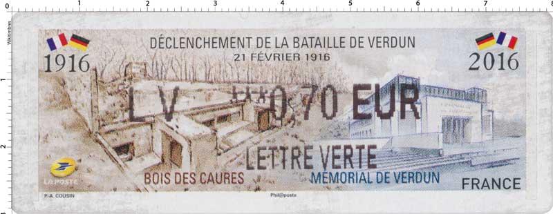 2016 Déclenchement de la bataille de Verdun 21 février 1916