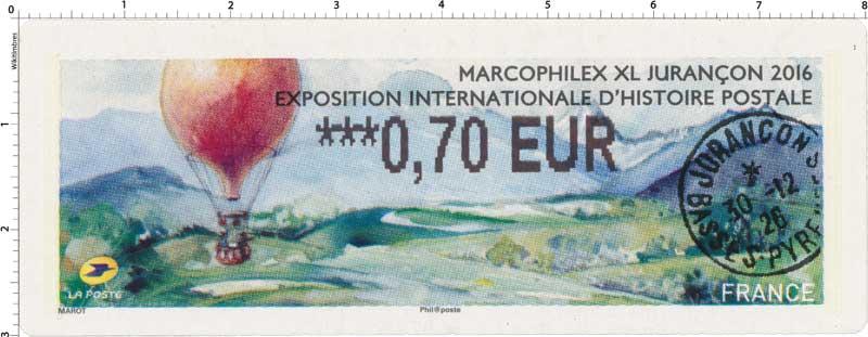 Marcophilex XL 2016 Jurançon exposition internationale d'histoire postale