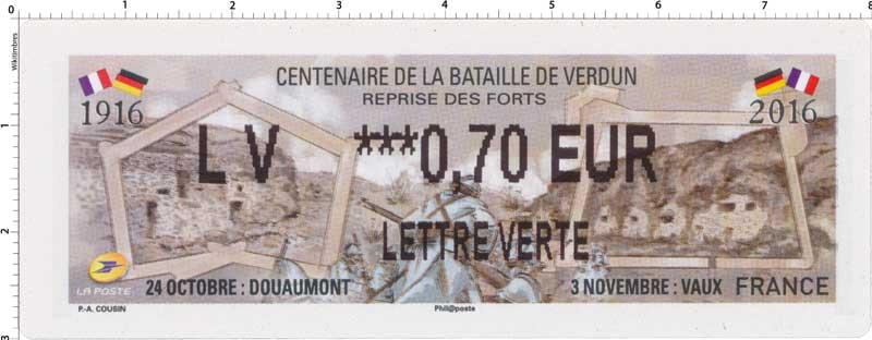 2016 Centenaire de la bataille de Verdun - reprise des forts