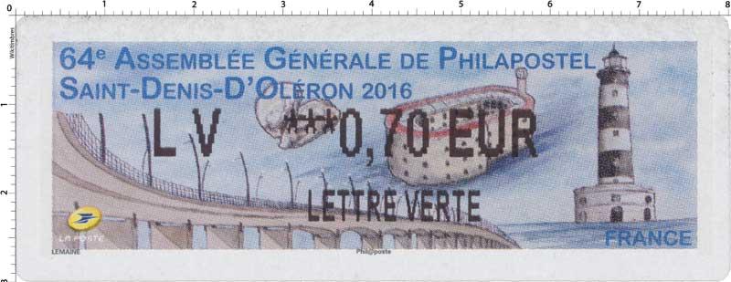 2016 64e Assemblée Générale de Philapostel - Saint-Denis-D'Oléron