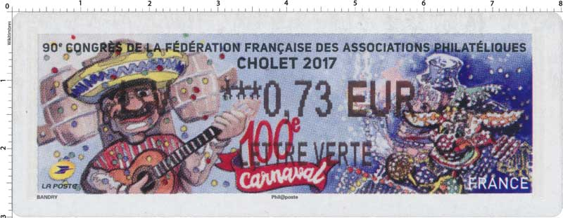 2017 90e Congrès de la Fédération Française des associations philatéliques - Cholet