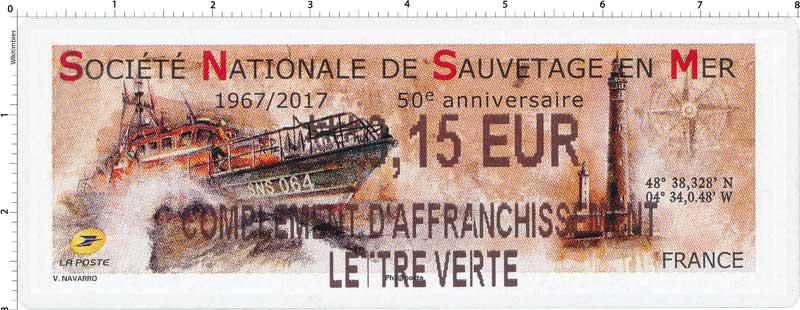 2017 Société Nationale de Sauvetage en Mer 1967/2017 50e anniversaire