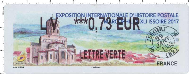 2017 Exposition internationale d'histoire postale - marcophilex XLI Issoire 2017