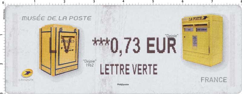2017 Musée de La Poste - Dejoie 1962 - Dejoie 1985