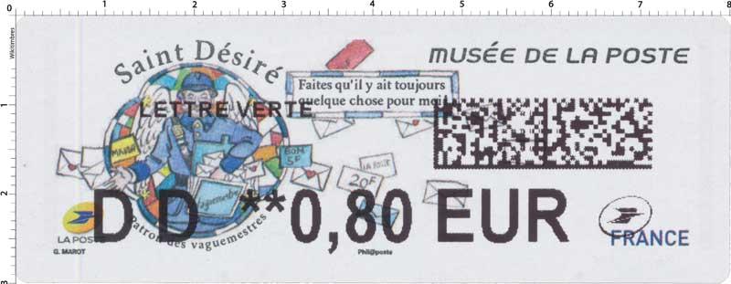 2018 Musée de la Poste - Saint Désiré - Patron des vaguemestres