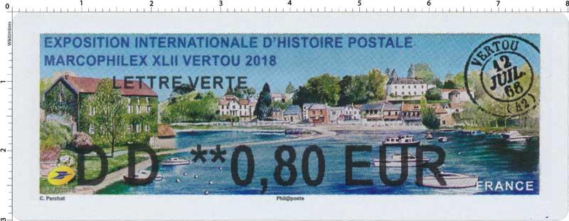 2018 exposition internationale d'histoire postale -  Marcophilex XLII Vertou 2018