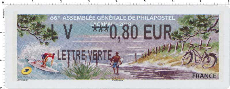2018  66e Assemblée Générale de Philapostel - Lacanau