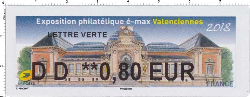 2018 Exposition philatélique é-max Valenciennes