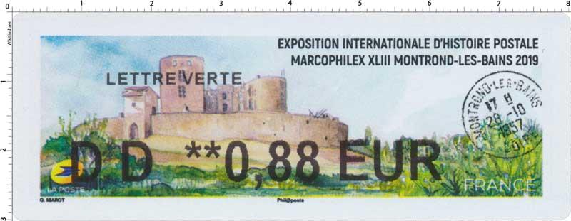 2019 Exposition internationale d'histoire postale Marcophilex XLIII Montrond-Les-Bains 2019