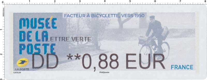 2019 MUSÉE DE LA POSTE - FACTEUR A BICYCLETTE VERS 1950