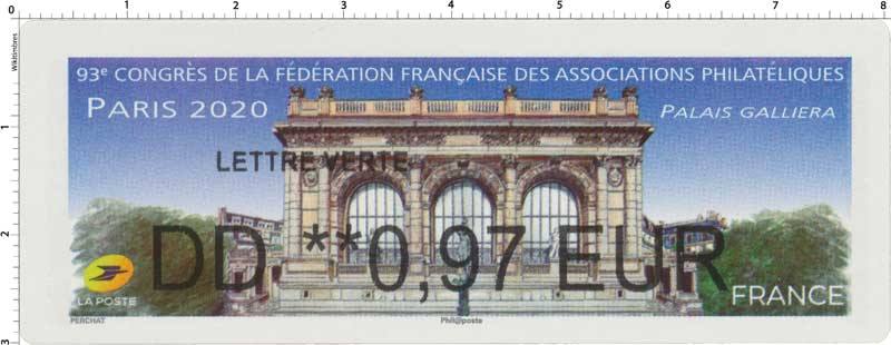 2020 93e CONGRES DE LA FEDERATION FRANCAISE DES ASSOCIATIONS PHILATELIQUES - PALAIS GALLIERA