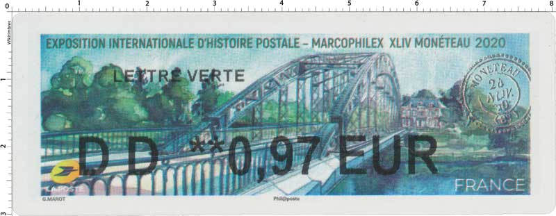 2020  Exposition internationale d'histoire postale - Macophilex XLIV Monéteau