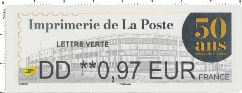 2020 50 ANS DE L'IMPRIMERIE DE LA POSTE