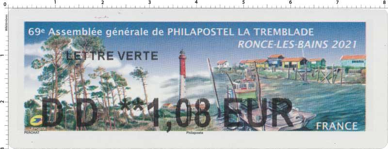 2021 69e ASSEMBLÉE GÉNÉRALE DE PHILAPOSTEL LA TREMBLADE - RONCE-LES-BAINS 2021