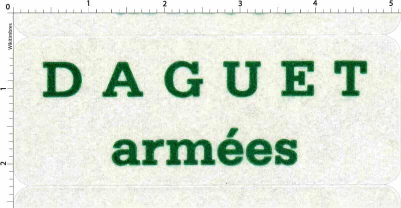 DAGUET armées