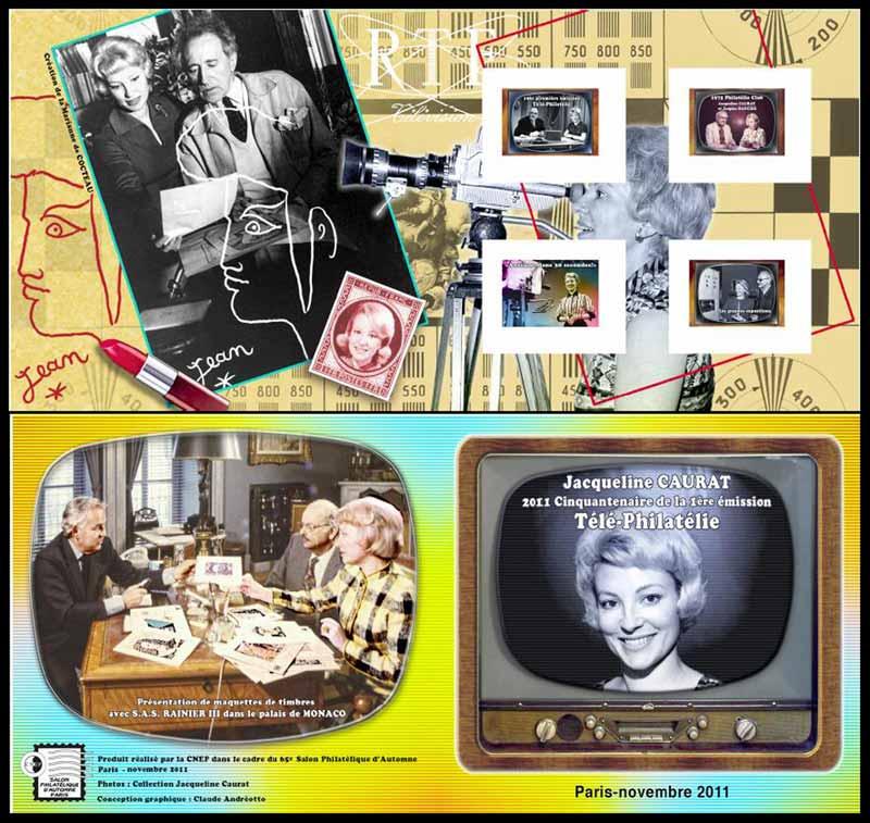 2011 Jacqueline Caurat cinquantenaire 1er émission de télé-philatélie