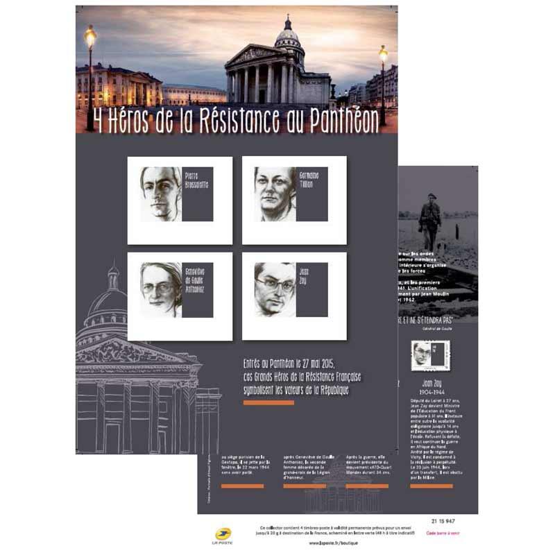 2015 4 HÉROS DE LA RESISTANCE AU PANTHÉON