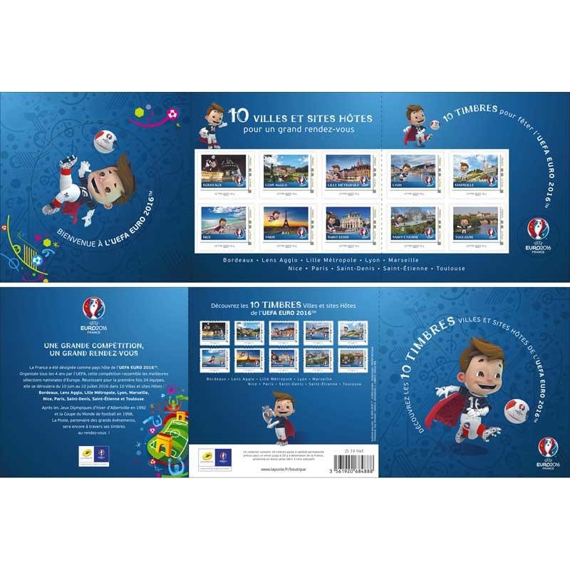 2015 Collector : Découvrez les 10 timbres ville hôtes de l'UEFA Euro 2016 TM