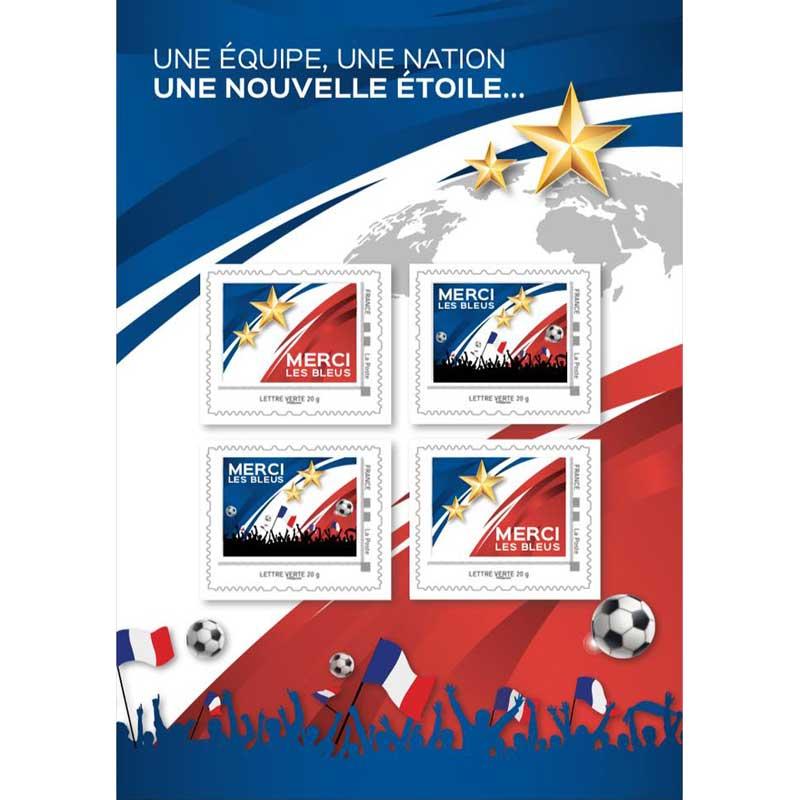 2018 Une équipe, une nation - Une nouvelle étoile - merci les bleus