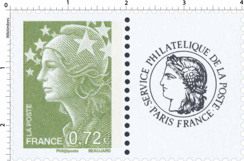 Sans légende particulière - type Marianne de Beaujard