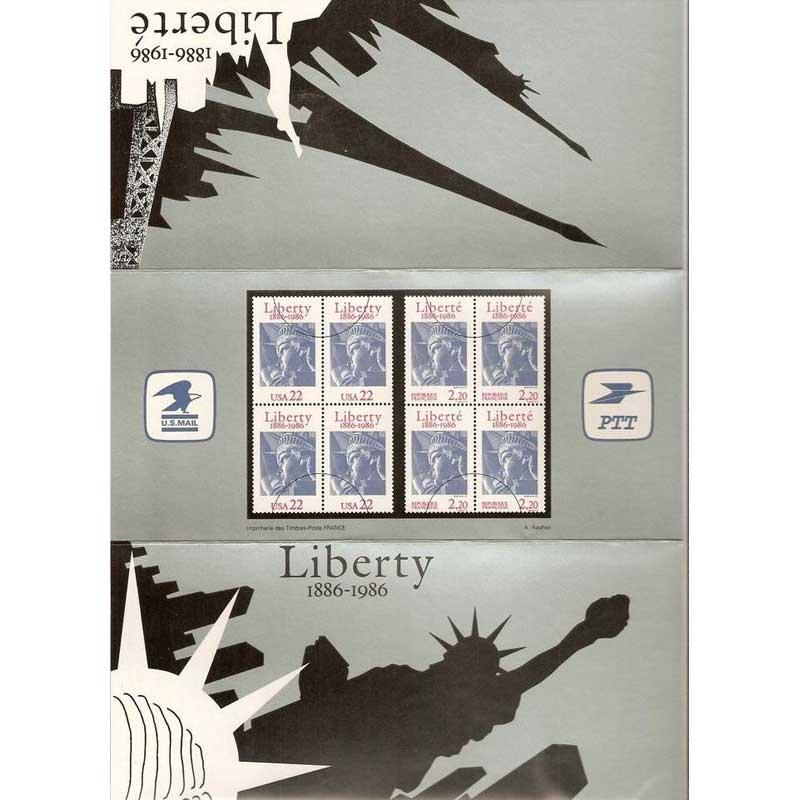 POCHETTE 1986 émission commune France - États-Unis