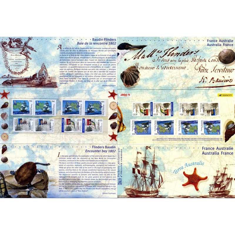 POCHETTE 2002 émission commune France - Australie